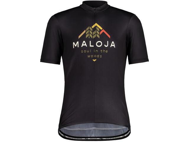 Maloja SchwarzerleM. 1/2 Short Sleeve Bike Jersey Men, negro